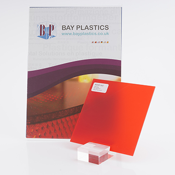 Red Frost Perspex Sheet