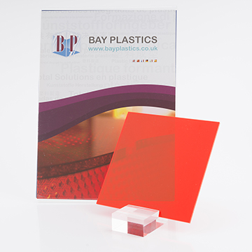 Fluorescent Mars Red 4t56 Perspex Acrylic Sheet
