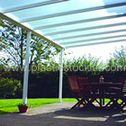 4.2m White Canopy System With Clear Multiwall Polycarbonate