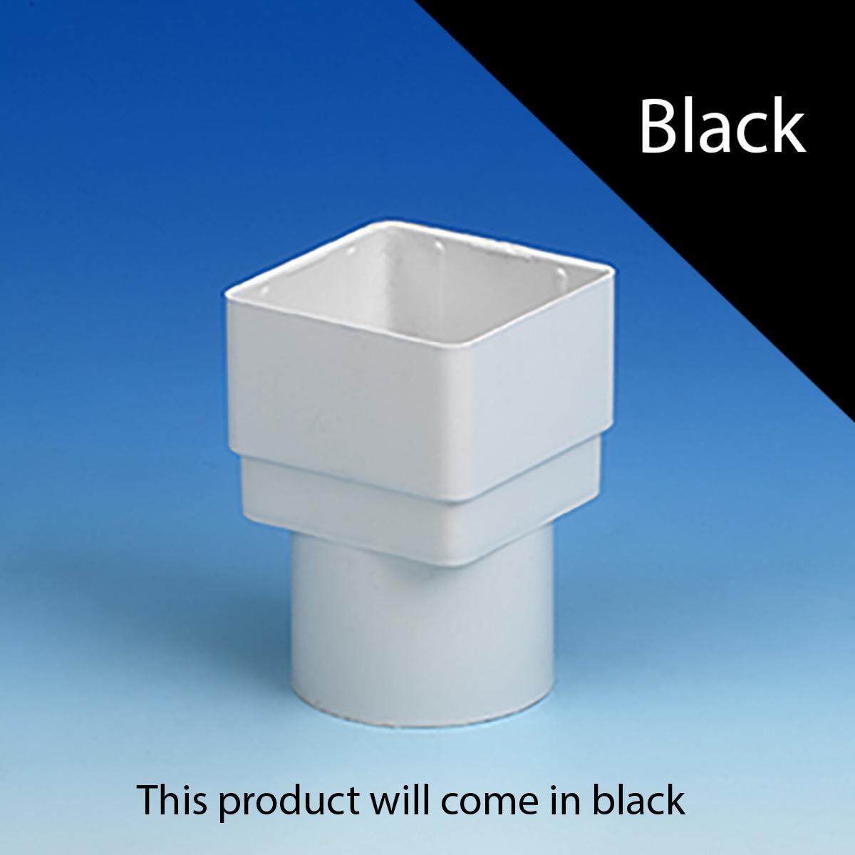 Half Round Square Round Gutter Adaptor Black