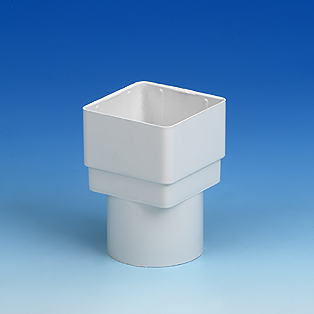 Squareline Gutter Adaptor White Plastic Stockist