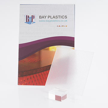 Perspex Pyramid Patterned Textured Acrylic Sheet