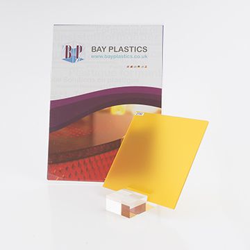 Saffron Yellow 2t53 Frost Perspex Cast Acrylic Sheet