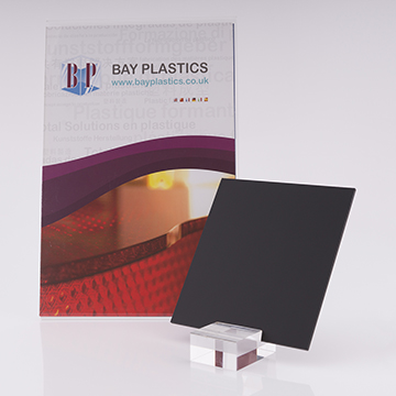 Black 9t30 Silk Perspex Acrylic Sheet With One Side Anti-Reflective