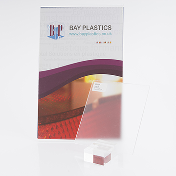 Clear Single Sided Silk Perspex Acrylic Sheet With One Side Anti-Reflective Finish